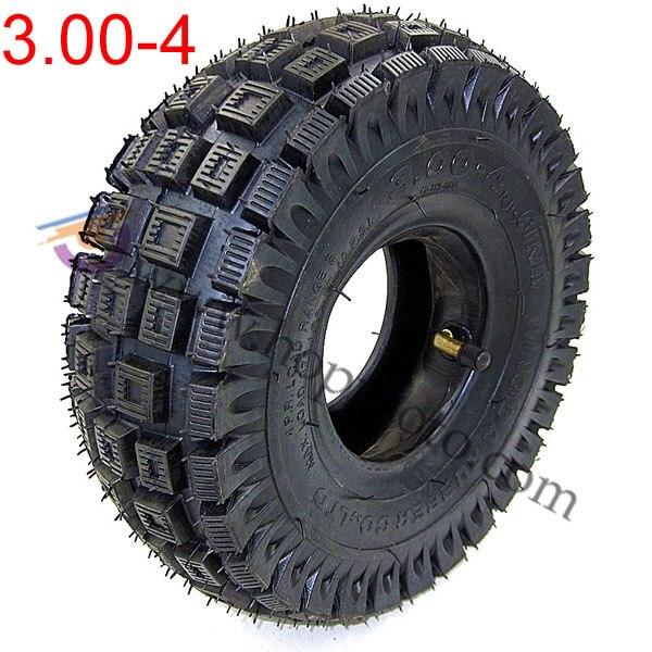 Pneu de Scooter 3.00-4 avec chambre à air Mini pneu de roue d'atv pour les pneus de roue avant arrière hors pneus de roue de modèle de route