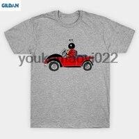 Gildan Funny mariquita fresco conducción coche escarabajo camiseta hombres camiseta