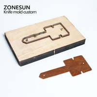 Customized Leather Shape Laser Punch Die Photo Paper PVC EVA Sheet Cutter Mold DIY Leather Laser