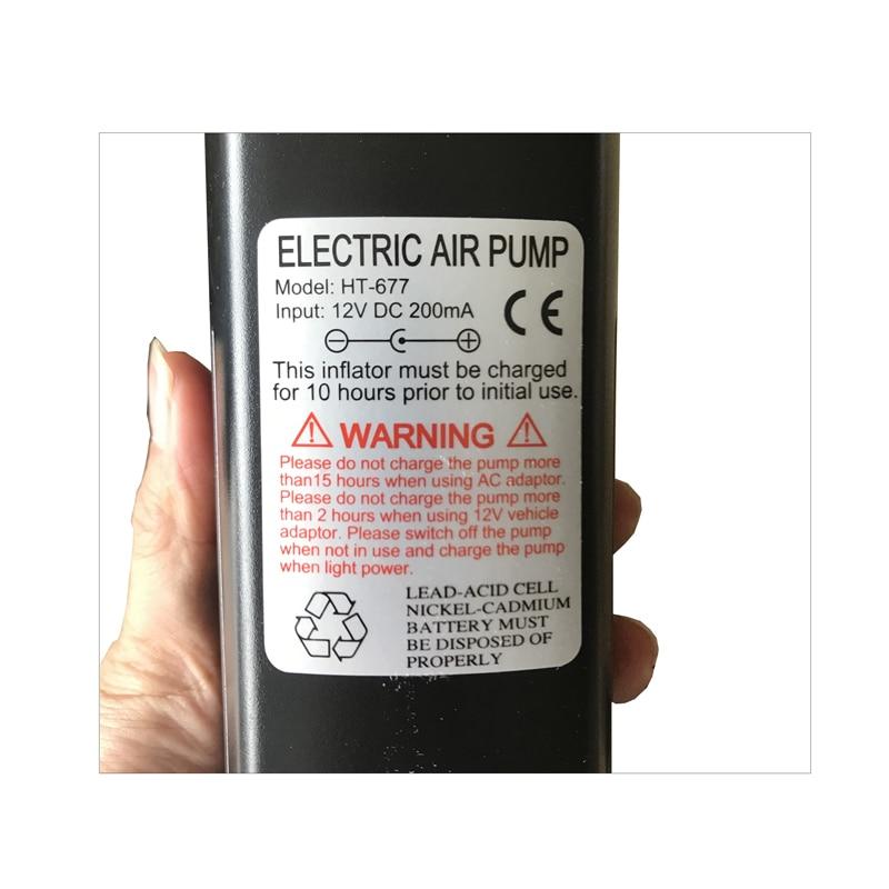 Multi-fuction aire AC DC bomba inflable coche bomba eléctrica encendedor inflado para colchón de aire inflatabl barco cama C73003 - 6