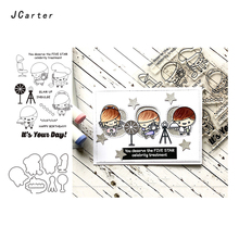 JC Metal Cutting Dies and Rubber Stamps Scrapbooking Five Star Chef Photographer Craft Stencil Card Make Album Sheet Decoration
