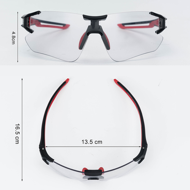 ROCKBROS Cycling Photochromic Glasses UV400 Outdoors Sports Sunglasses Bicycle Mens Frameless Glasses Goggles Technical Eyewear 4
