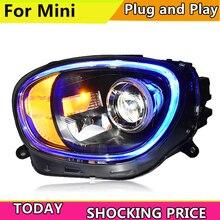 Araba Styling LED kafa lambası BMW MINI farlar 2017 şimdi MINI led kafa ışık DRL + dönüş sinyali + fren + ters LED işıkları