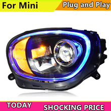 Car Styling LED head Lamp for BMW MINI headlights 2017  now for MINI all led head Light DRL+Turn Signal+Brake+Reverse LED lights