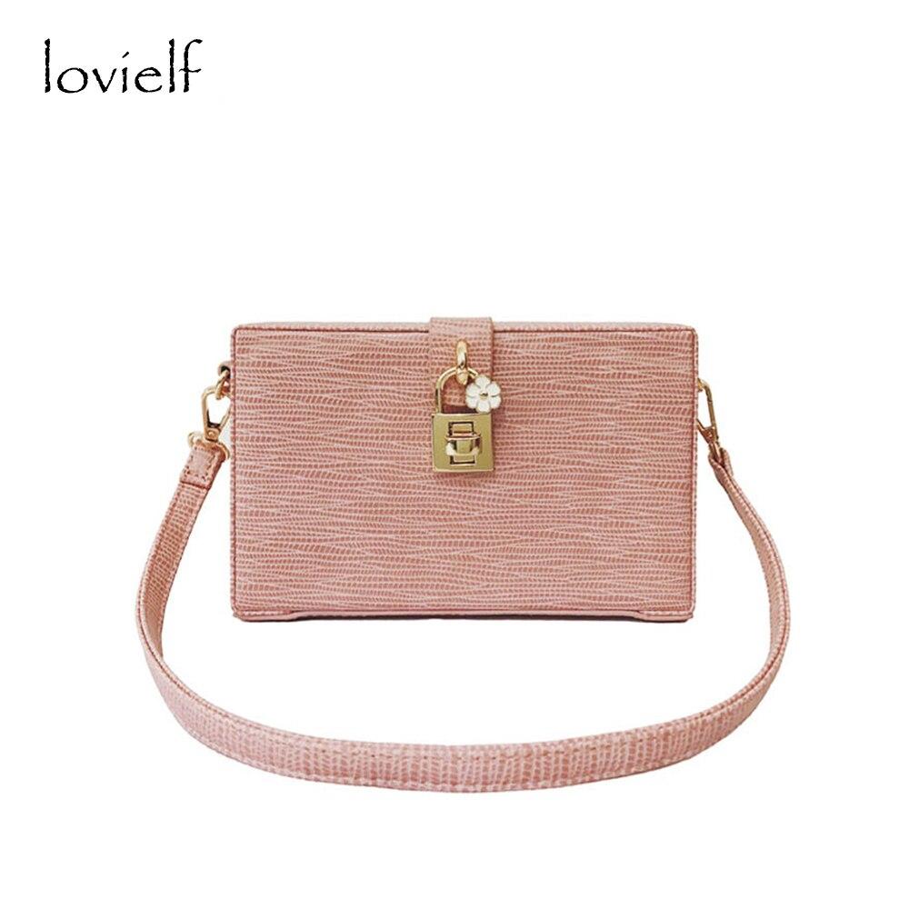 lovielf NEW Women Girl Lady Vintage Summer Quality Elegant Mini Small Lock Flora