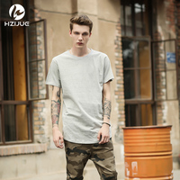 Hot Solid Men Short Sleeve T Shirts Hip Hop Fashion Mens Shirts Kanye West Casual Top