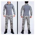 Camouflage Frog Suits 2015 Tactical ACU frog suit  US military Army uniforms long sleeve Tshirt & tactical pants