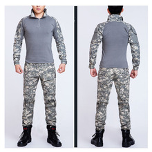 Camouflage Frog Suits 2015 Tactical ACU frog suit US military Army uniforms long sleeve Tshirt tactical