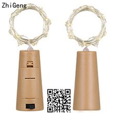 ZhiGeng 1M 2M Cork String Light Copper Wire LED String Lights Holiday Lighting Wedding For Party Christmas Home Decor Lights