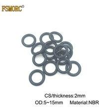 100/500/1000 шт OD: 5 5,5 6 6,5 7 7,5 8 8,5 9 9,5 10 10,5 11 11,5 12 12,5 13 14 15*2 мм(CS) NBR каучук o-образный кольцо уплотнение/бутадиен-нитрильный каучук