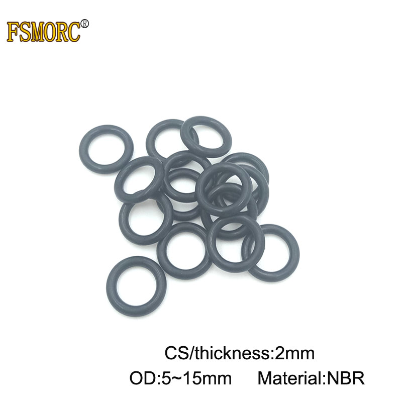 100pcs 3.5mm Oil Resistant NBR Nitrile Butadiene Rubber O-Ring OD 27mm Sealing