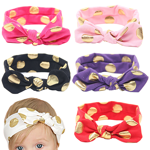 08127226f Chica Arco de la venda del conejo del nudo del turbante Hairband algodón  HeadwearStore11