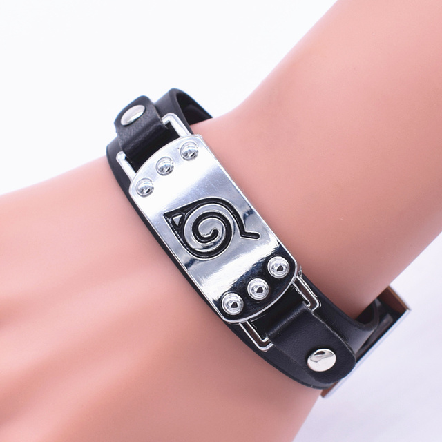 Naruto AOT One Piece Wristband Leather Bracelet
