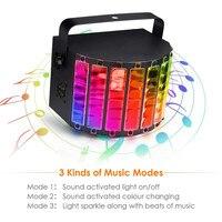 LED RGB Stage Light Disco Ball Disco Lights for Home Room Dance Parties Bar Karaoke Xmas Wedding Show Club 30W DMX512 RGBW