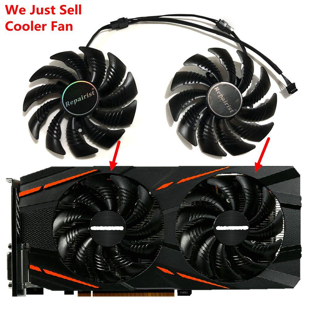 GV-RX570/580 para GV-RX470WF2/RX480WF2 T129215SU 87mm (90mm) Gigabyte tarjetas ventilador como reemplazo