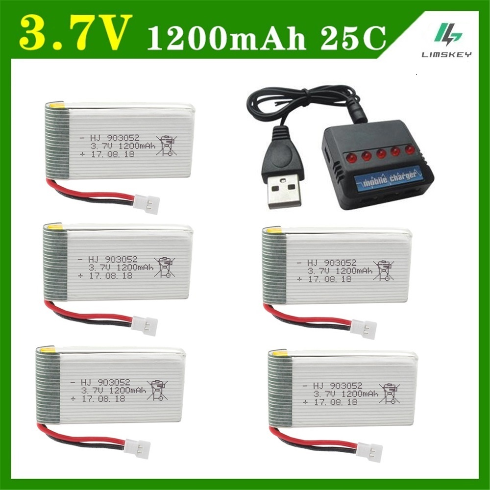 Image 2 - 6Pcs/Set Original 3.7v 1200mAh with Charger Units for SYMA X5 X5C X5SC X5SH X5SW Drone Quodcopter Spare lipo Battey Parts 3.7 v-in Parts & Accessories from Toys & Hobbies