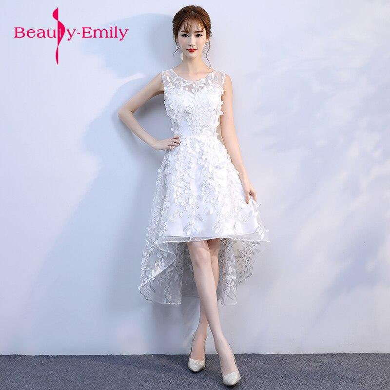 Vestidos noche blanco elegantes cortos
