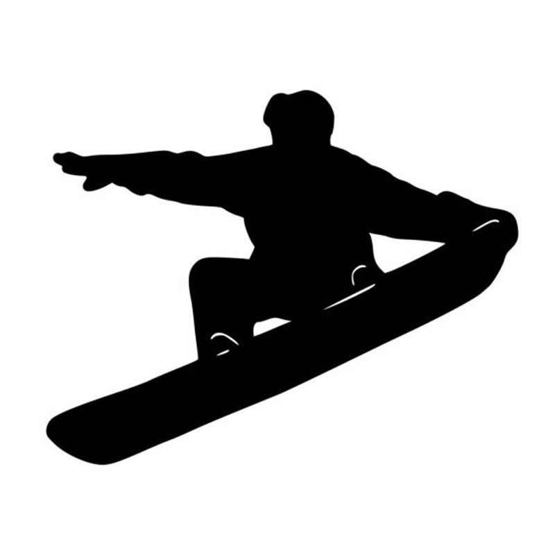 Dependable 18.2*14.6cm Interesting Snowboarding Skateboarding Skating Sports Car Stickers Black/silver C7-0154 Modern Design