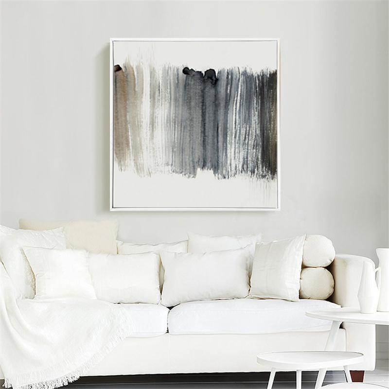 incredible black white living room wall paint   Modern Black White Colors Art Canvas Painting Abstract Oil ...