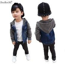 Fashion Denim Baby Boys Clothes Children Outerwear Coat Kids Jackets for Boy Girls Jacket Hooded Spring Autumn Children Clothing