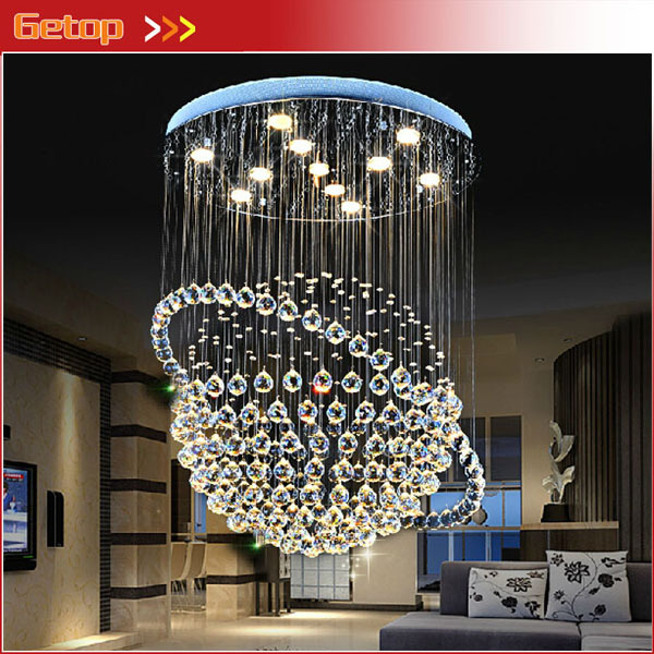 Best Price Modern LED K9 Crystal Chandeliers Duplex Villa Staircase Chandelier Tellurion Hanging Wire Hall Llights Project Lamp best price modern led spherical k9 crystal lamp duplex stairs luxury villa round ball crystal pendant lights project lights