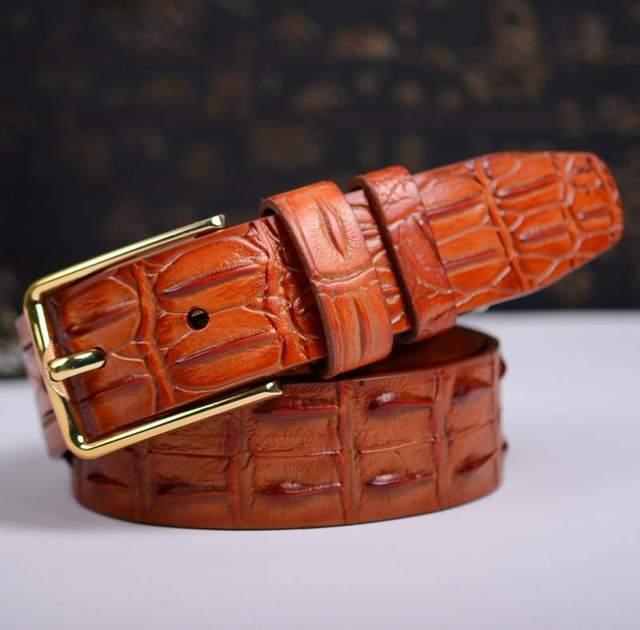 Famoso cinto marca Cintos de Grife Homens de Crocodilo cinta nova chegada para homens cós para homens homens cinto de couro genuíno