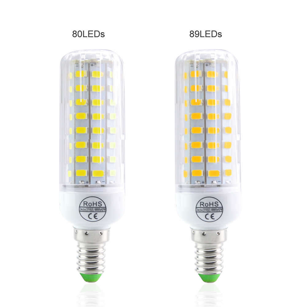 E14 SMD5730 Led Lamp 24-108Led Bulbs Power Equal Incandescent 20W to 100W For Hotel Home Art Lighting Bombillas Corn Led 220V