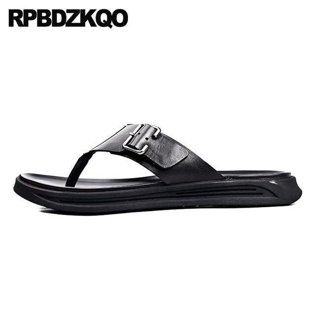 3854ce8bfd6 Native Black Sandals Genuine Leather Summer Slippers Slides Flip Flop  Famous Brand Designer Shoes Men High Quality Platform
