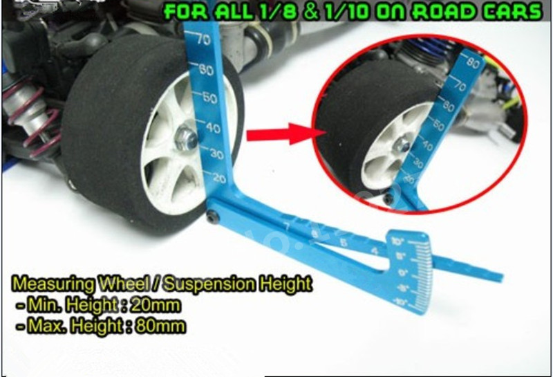 Yeah Racing 3 in 1 Camber Gauge Set Up Adjustable Measure Tool chassis Suspension Wheel Ride Height YT-0056 For 1/8 1/10 RC Car