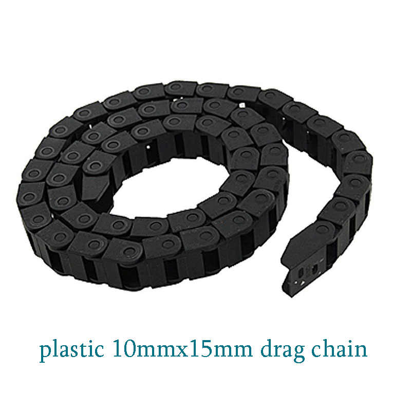 bridge type can't open plastic 10mmx15mm drag chain with end connectors engraving machine cable for CNC router # LK8 10x15 1pcs