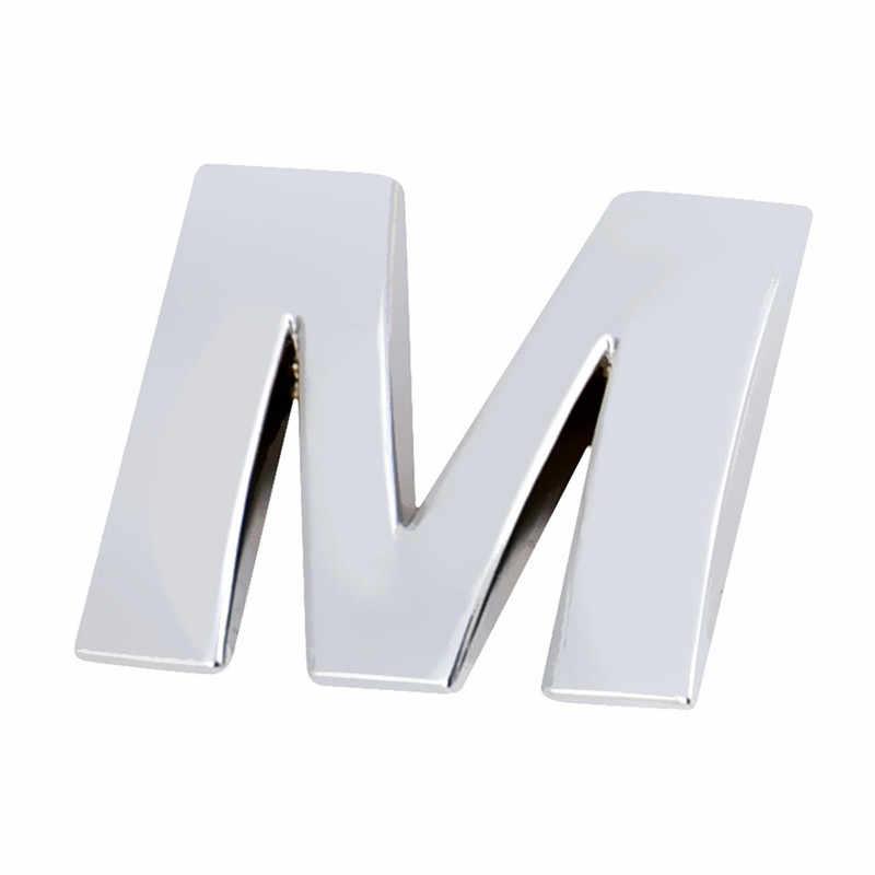 Venda quente (A-R) 3d diy alfabeto metálico adesivo carro emblema carta prata emblema decalque sl dropship 170912 * *