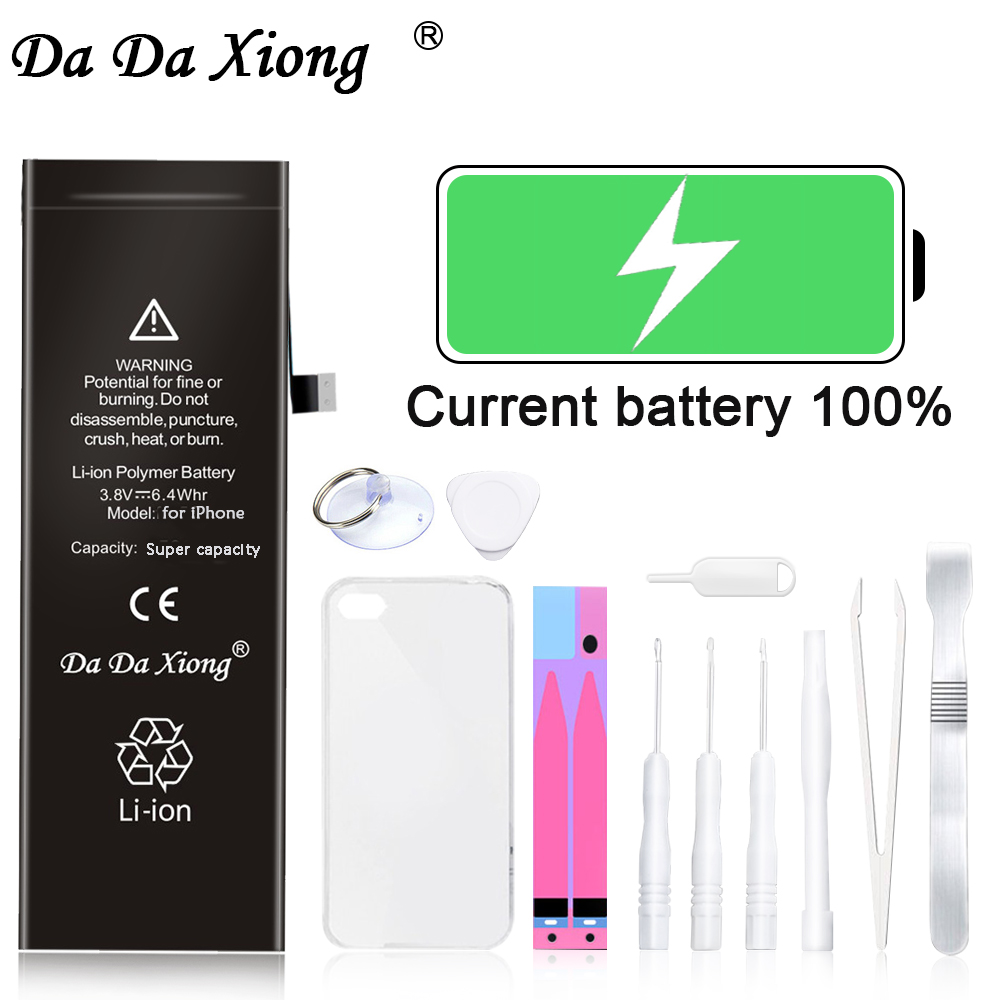 Original Da Da Xiong Phone Battery For <font><b>iPhone</b></font> <font><b>5</b></font> S 7 Plus Max Capacity Replacement Batteries Lithium Polymer <font><b>Bateria</b></font> Free Tools image