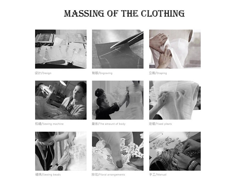 massing of the clothing