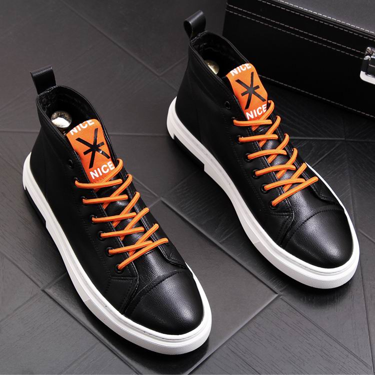 ERRFC zima nowy nabytek męskie białe buty na co dzień wysokiej góry sznurowane buty kowbojskie człowiek czerwony Hip Hop rozrywka trendów buty 38  43 w Buty motocyklowe od Buty na  Grupa 2