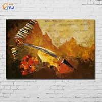 Mixed Colored Music Canvas Wall Art Hand Painted Modern Abstract Oil Painting for Living Room Decoration Gift No Framed SL112