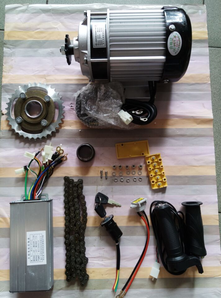 750W <font><b>60V</b></font> brushless gear decelerating <font><b>motor</b></font>, light electric tricycle kit image