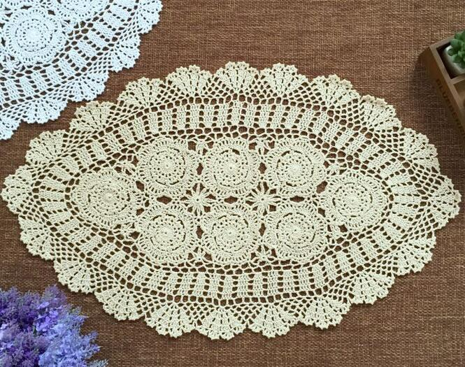 US 18 OFF Modern Handmade Cotton Crochet Tablecloth Tea Table Cloth Lace Christmas Oval Table Cover Nappe Mantel Dining Home Wedding Decor In