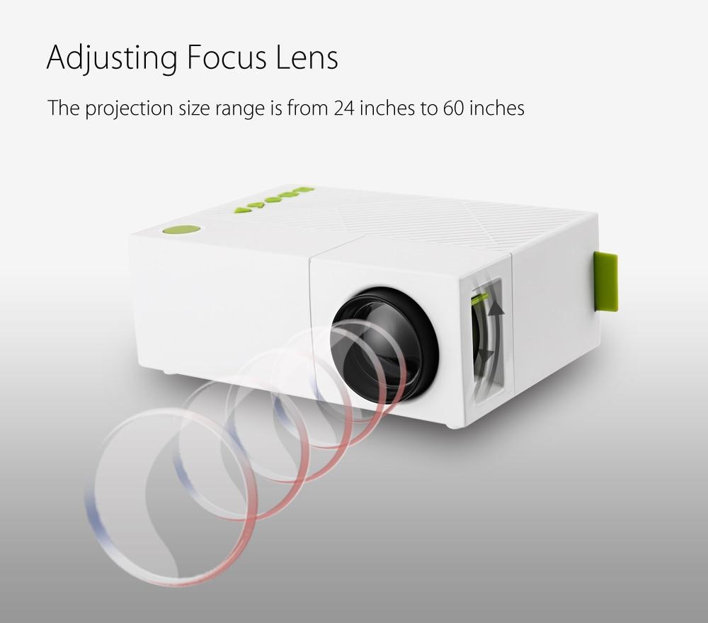 Exquizon YG310 updated YG300 LED Portable Projector HD 800Lumen 320x240 1080P AV USB HDMI Video LED mini Home Media Player  (11)