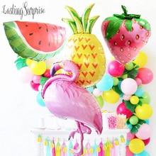 Summer Party Big Balloon Pineapple Flamingos Watermelon Hawaiian Party Decoration Wedding Deco Summer Balloons Kids Birthday flamingos