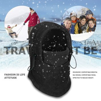 Winter Warm Fleece Full Face Cycling Mask Windproof Double Layer Riding Hat Multifunction Outdoor Sport Cap For Men & Women