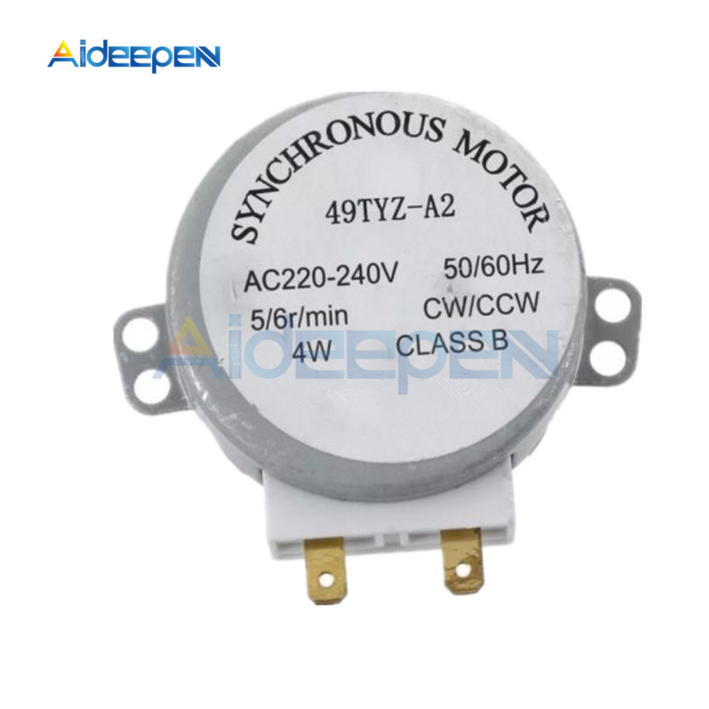 AC 220-240V 50/60Hz 5/6RPM 4W Turntable Synchronous Motor For Miniwave Oven Microwave Oven Accessories 49TYZ-A2