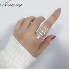 Anenjery Personality Design 925 Sterling Silver Wrap Around Cat Rings For Women Girl Jewelry anillos Size 18mm S-R280(China)