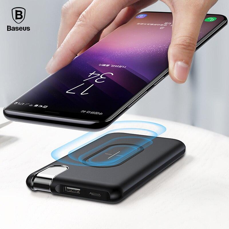 Chargeur portatif batterie de charge sans fil Baseus QI pour iPhone X 8 samsung S9 S8 S7 batterie externe pour téléphone portable batterie sans fil