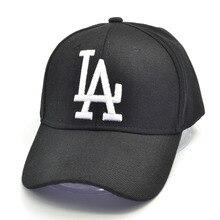 цена на 2019 New letter Baseball Caps LA Dodgers Embroidery Hip Hop bone Snapback Hats Men Women Adjustable Gorras 4 colors