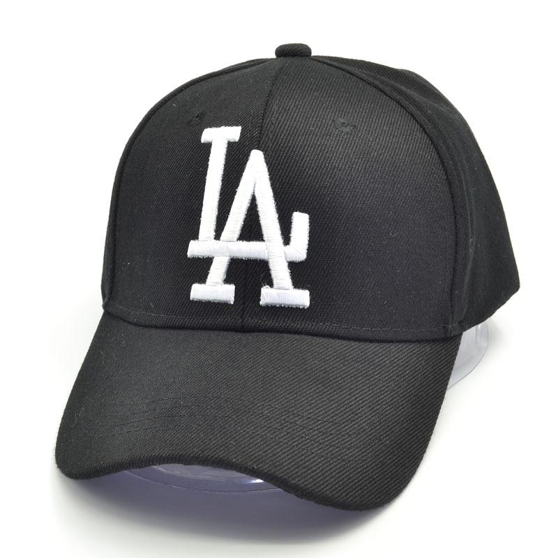 2019 New letter   Baseball     Caps   LA Dodgers Embroidery Hip Hop bone Snapback Hats Men Women Adjustable Gorras 4 colors
