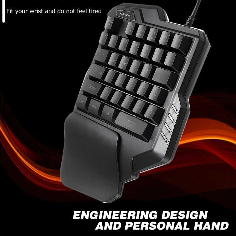 Mekanik tek el klavye oyun sol el oyun tuş takımı Lol/Dota/Ow