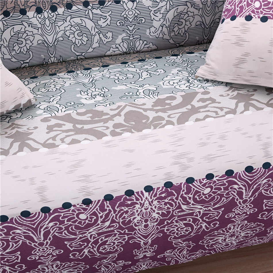 Purple And Grey Bohemian Style Universal Stretch Sofa Covers For Living Room Elastic Couch Corner Slipcovers In Cover From Home