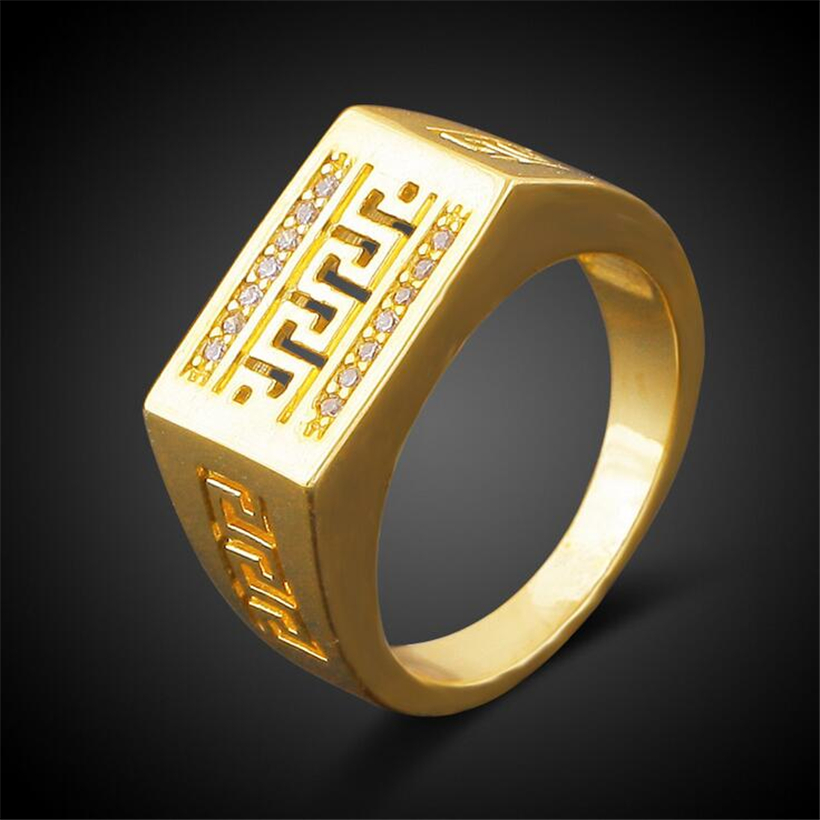 Rings for mann gold for Mercedes benz 18k gold ring