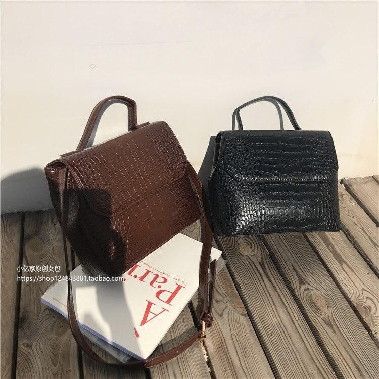 Décontracté Alligator sacs à main femmes Crocodile modèle sacs de messager femmes en cuir PU épaule sac à bandoulière femme sac à main offre spéciale
