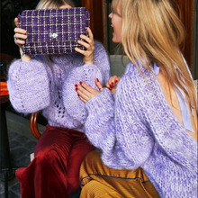 цены на Pull Femme Hiver 2018 Plus Size Winter Tops Women Sweaters Korean Mohair Pullovers O Neck Wool Knitted Sweater Christmas Jumper в интернет-магазинах
